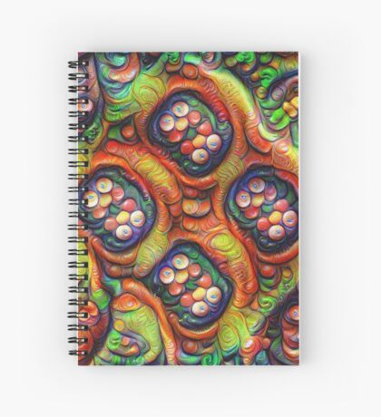 Still life with fruits #DeepDream Spiral Notebook