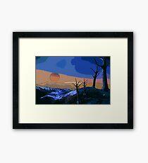 Far away from Earth Framed Print