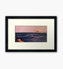 Italy, Mediterranean sunset Framed Print