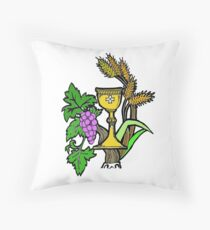 The Symbol of Holy Communion Throw Pillow