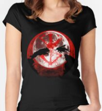Blood moon guts and wolf Women's Fitted Scoop T-Shirt