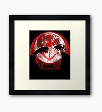 Blood moon guts and wolf Framed Print