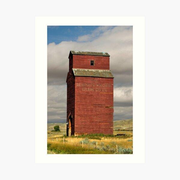 Grain Elevator Dorothy, Alberta Art Print