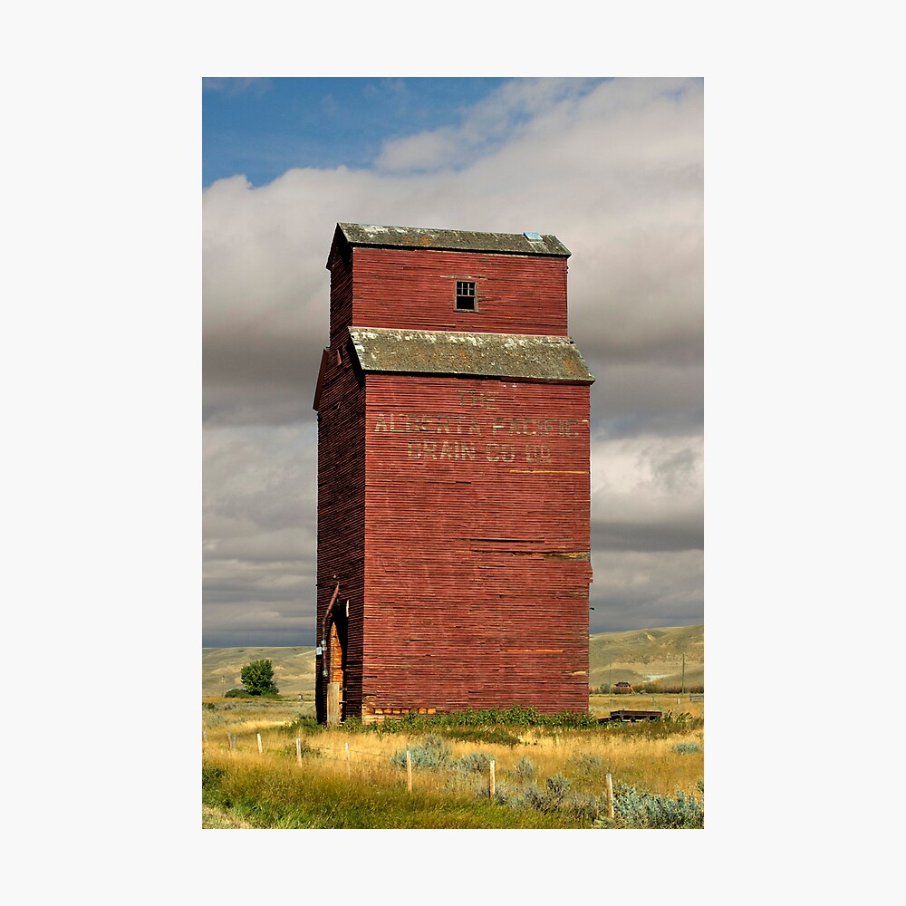 Grain Elevator Dorothy, Alberta Photographic Print