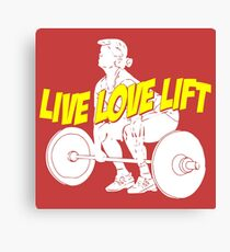 Weight-lift Canvas Print