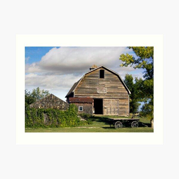 Livery Barn Rowely, Alberta Art Print