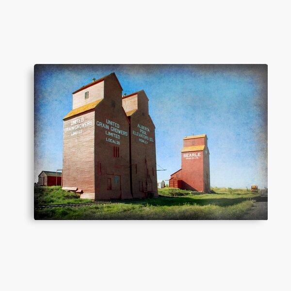 Grain Elevators, Rowley Alberta Metal Print