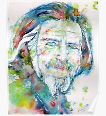 ALAN WATTS - watercolor portrait Poster