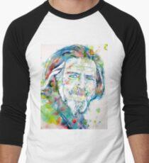 ALAN WATTS - watercolor portrait Baseball ¾ Sleeve T-Shirt