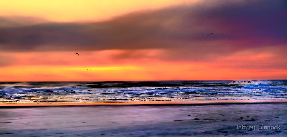 Cape Disappointment at Sunset in Washington HDR by Jeffrey  Sinnock