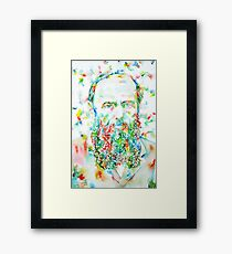 FYODOR DOSTOYEVSKY - watercolor portrait Framed Print
