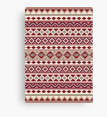 Aztec Essence Pattern IIb Red Cream Grays Sand Canvas Print