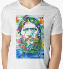 RASPUTIN - watercolor portrait Men's V-Neck T-Shirt