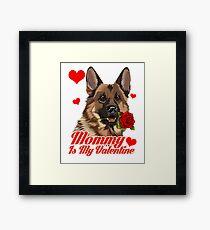 German Shepherd Love Mommy Valentine Framed Print