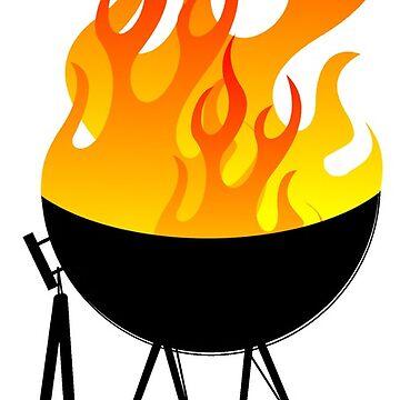 BBQ Black Pattern by ezcreative