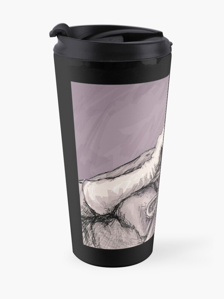 Alternate view of Phone Call of Cthulyn Travel Mug