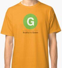 New York Raised Me / New York / G Train Brooklyn to Queens Classic T-Shirt