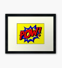 Superhero POW! Framed Print