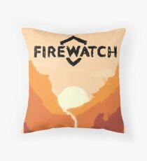 Firewatch horizion with logo Throw Pillow