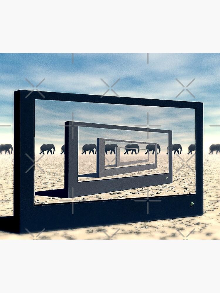 Surreal Elephant Desert Scene by perkinsdesigns