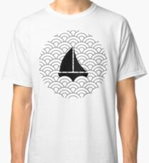 sailing boats on waves, black and white II Classic T-Shirt