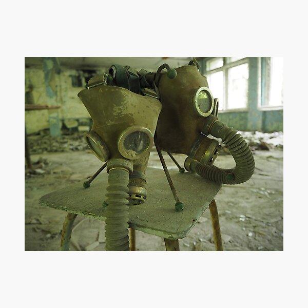 Gaskmask room in a kindergarten in Chernobyl Photographic Print