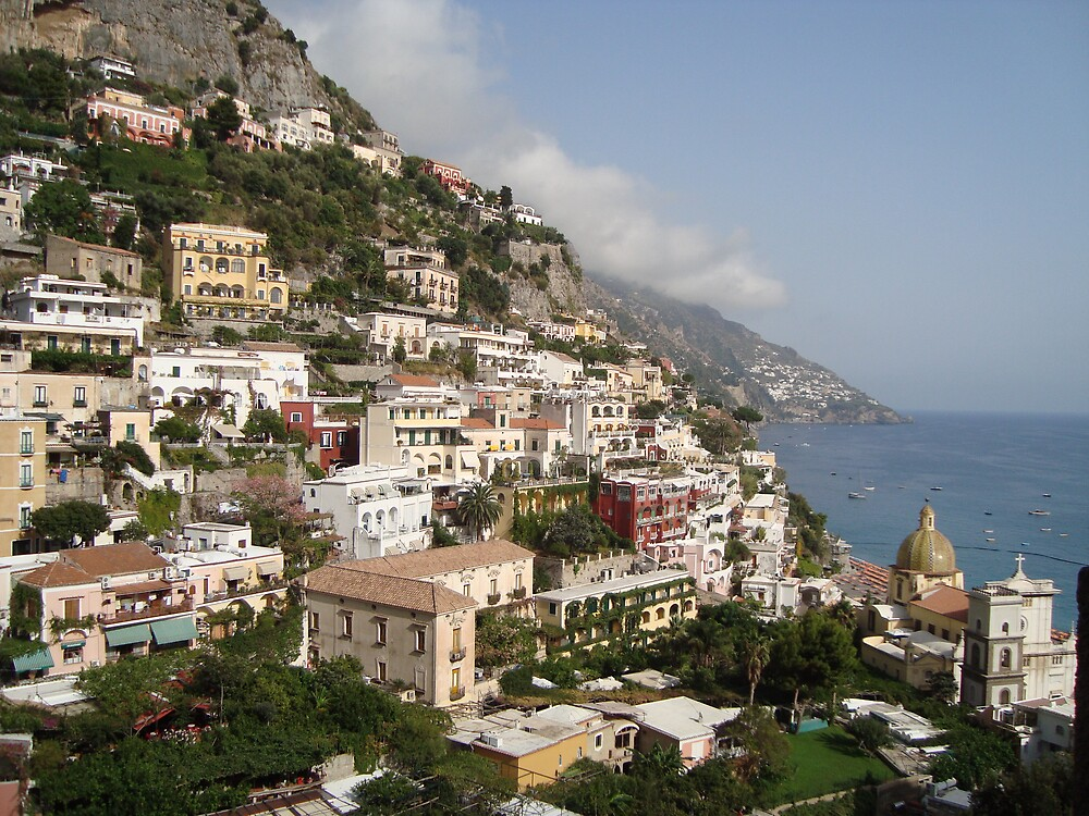 The Amalfi Coast, Positano by Debjani