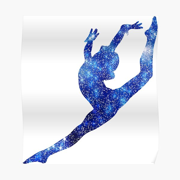 Leap - Blue Poster