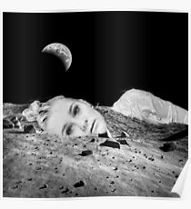 Alone on the Moon, Earth Shine, Lady in the Moon,  Poster