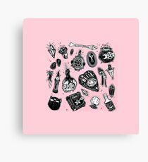 Creepy pink cute  Canvas Print