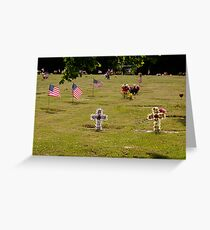 Memorial Flags 2 Greeting Card