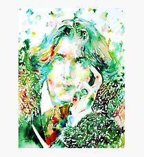 OSCAR WILDE watercolor portrait.2 Photographic Print