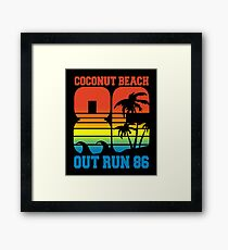 OUT RUN - COCONUT BEACH 86 Framed Print