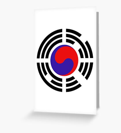 Korean Patriot Flag Series Greeting Card