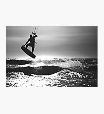 Silhouette of Kite Surfer Photographic Print