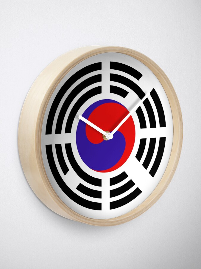 Alternate view of Korean Patriot Flag Series Clock