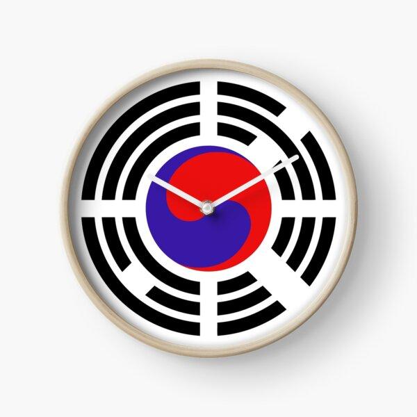 Korean Patriot Flag Series Clock