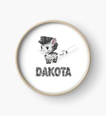 Zebra Dakota Clock