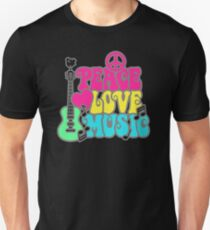 NEW PRODUCT PC436 Peace Love Music New Product T-Shirt