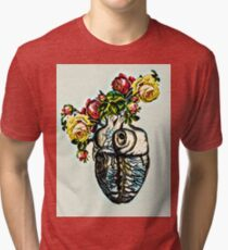 Heart of Roses Tri-blend T-Shirt