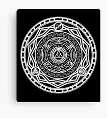 Twilight Gate - Plus goddess and sage symbols Canvas Print
