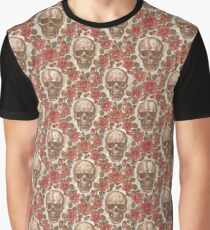 roses skull  Graphic T-Shirt