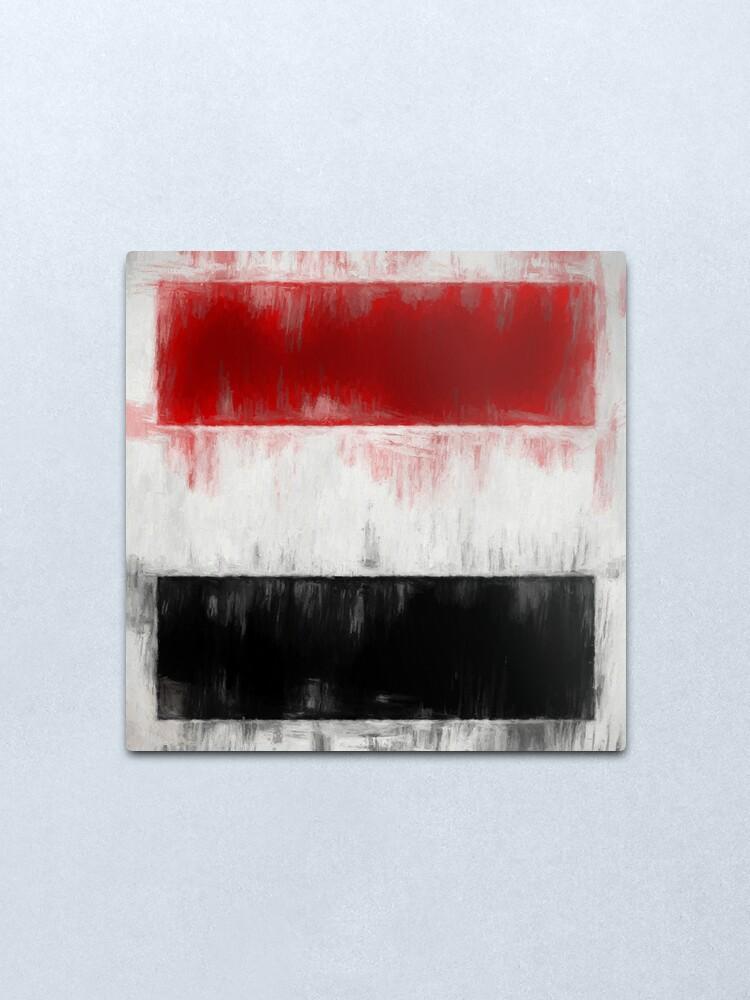 Alternate view of Yemen Flag Reworked No. 2, Series 2 Metal Print