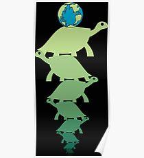 Schildkröten den ganzen Weg hinunter (Ocd Bewusstsein) Poster
