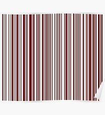 Barcode Quooki Barcode Brown Poster