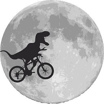 T-rex riding a bike by savestones