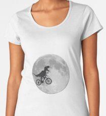 T-rex riding a bike Premium Scoop T-Shirt