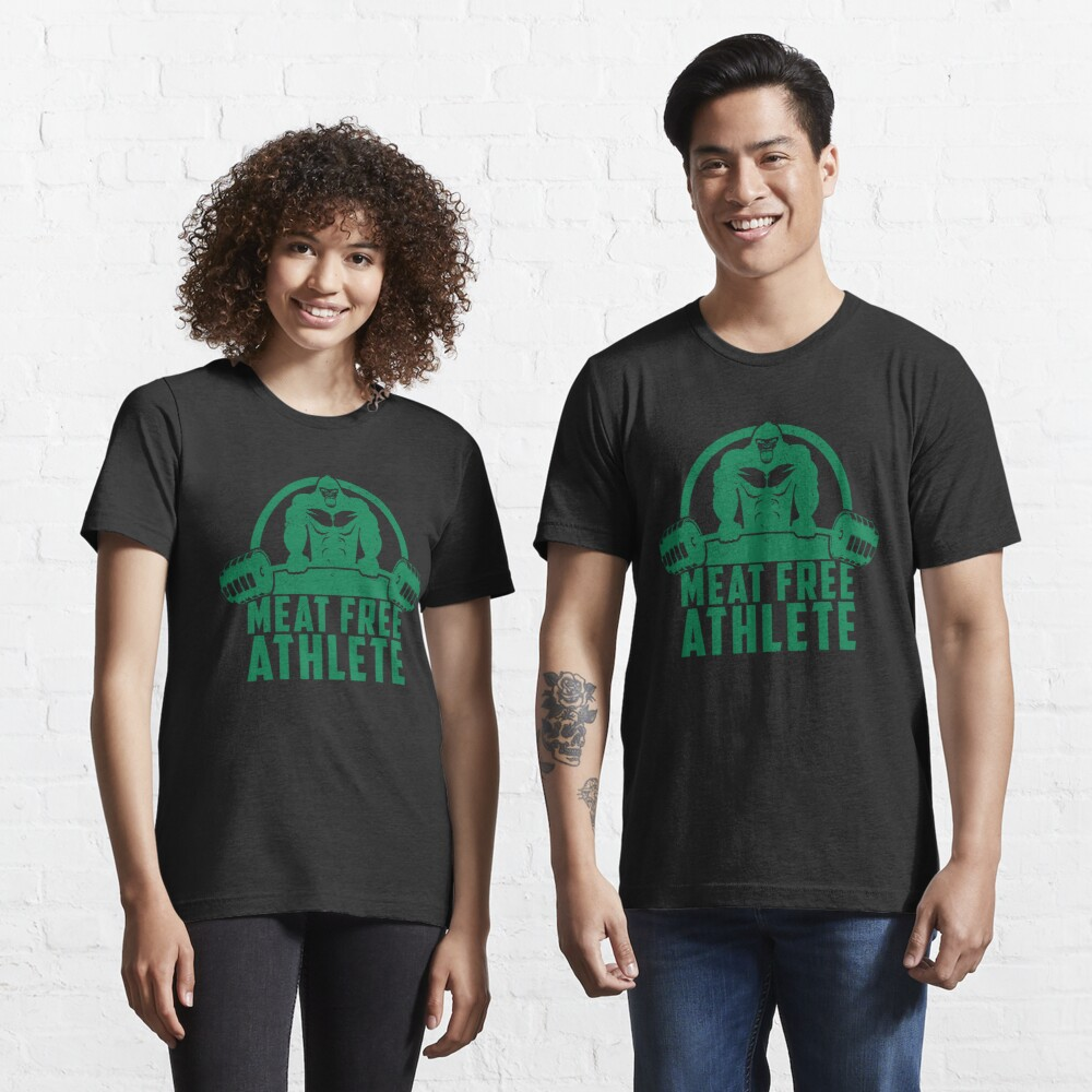 Meat Free Athlete Vegan Gorilla - Funny Workout Quote Gift Essential T-Shirt