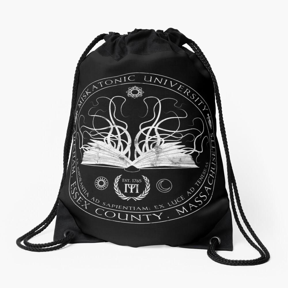 Miskatonic Sigil Drawstring Bag