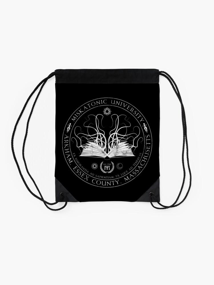 Alternate view of Miskatonic Sigil Drawstring Bag